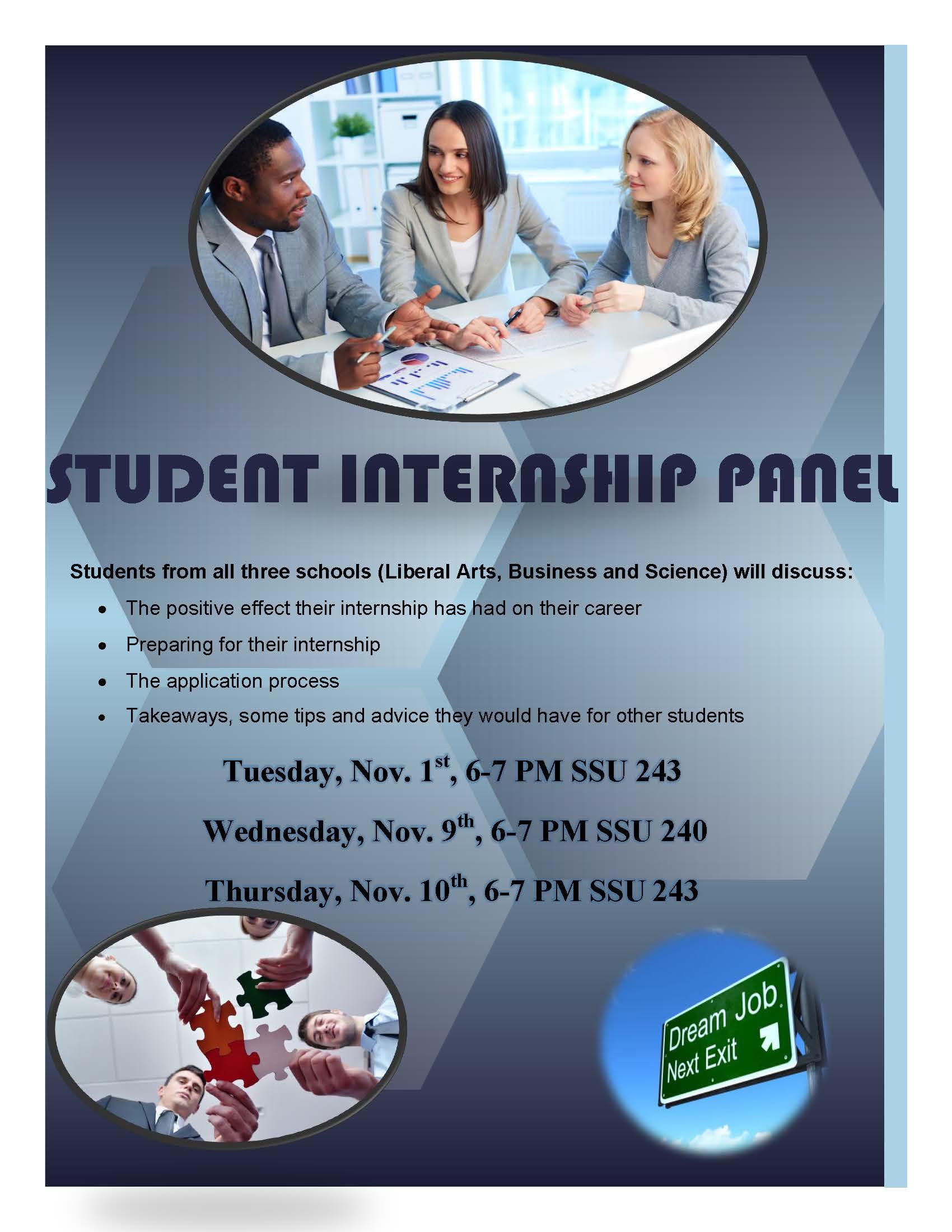 student internship panel